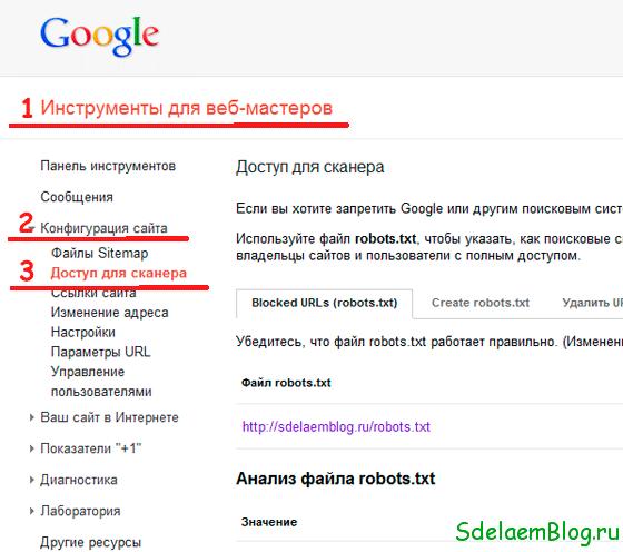 Инструменты для веб-мастеров от Google.