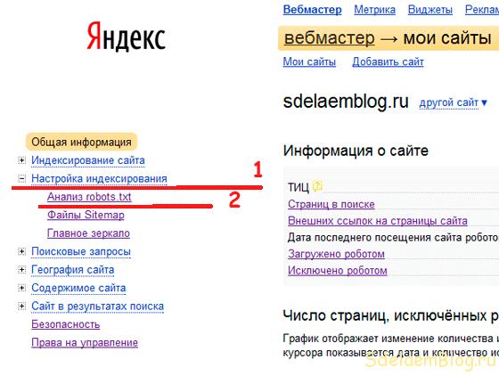 Анализ robots.txt от Яндекс.
