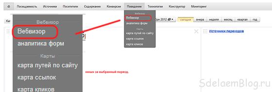 Вебвизор - слежка за посетителем
