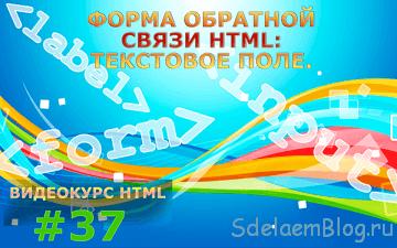 Форма обратной связи HTML: Текстовое поле.